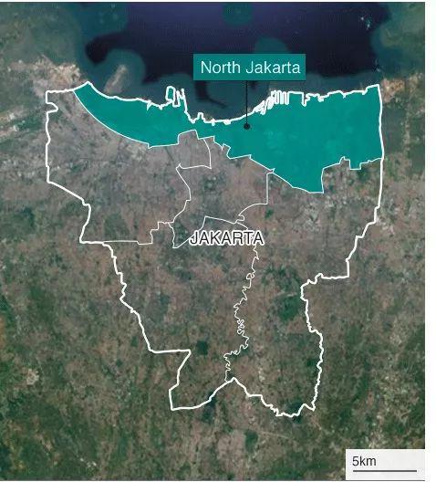 (图为北雅加达 图片来源:BBC)