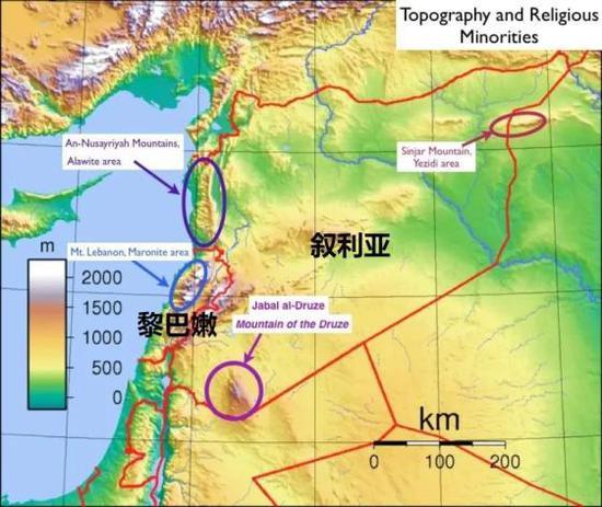 """▲山地为主的地形,使黎巴嫩成为了基督教在中东的""""星星之火"""""""