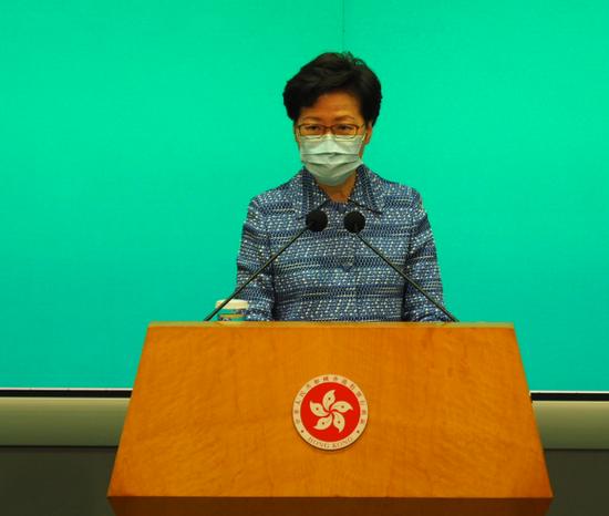 林郑月娥四谈涉港国家安全立法 驳外国政客不实言论图片
