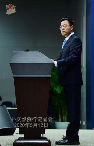 摩天注册:交部发言人赵摩天注册立坚主持例行记者图片