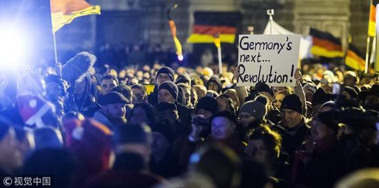 德国反移民大游行@视觉中国