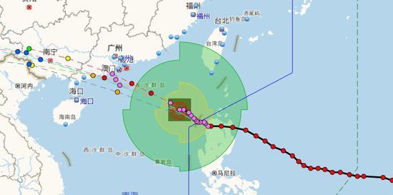 海南及广东全境简直都在其影响之下(图片来源:温州台风网)