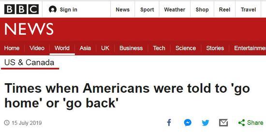 """BBC:《那些年美国人被要求""""哪儿来的回哪儿去""""的故事》"""