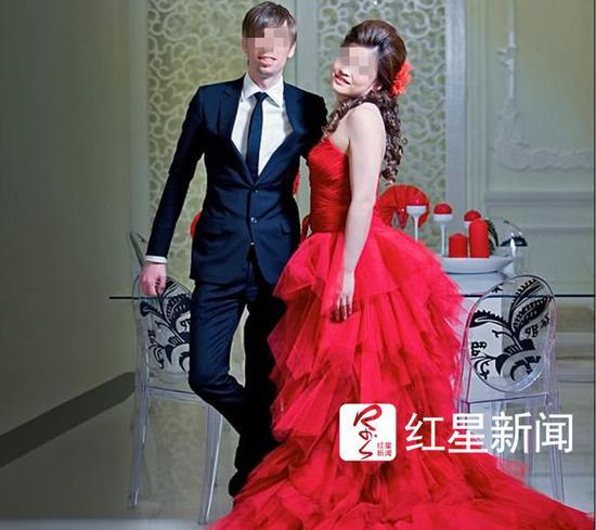 ▲迈克和付薇薇的婚纱照  图据每日邮报