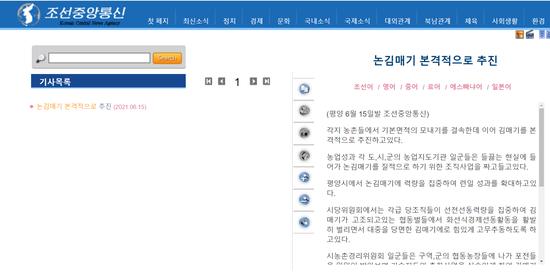 朝中社:朝鲜各地全面抓紧锄草作业