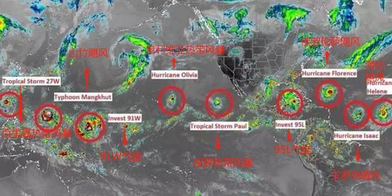 ▲飓风示意图 图据《每日邮报》