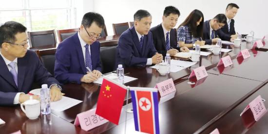 退役军人事务部副部长会见朝中友好协会副委员长|朝鲜