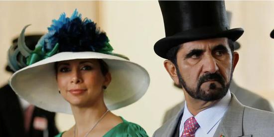 迪拜酋长与王妃。/推特截图