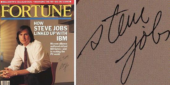乔布斯签名杂志起拍价超1万美元:作品有个有趣的背景故事 乔布斯签名物品罕见故价值高
