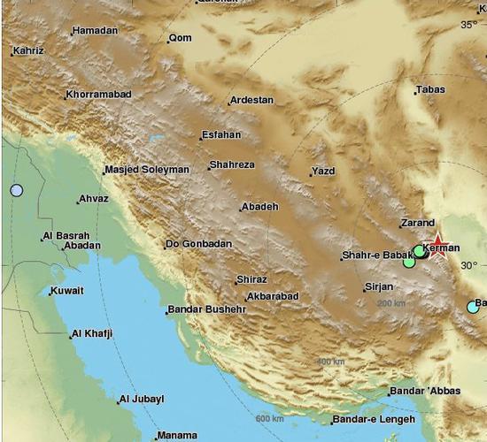 伊朗24小时内连发4起地震 近290人受伤