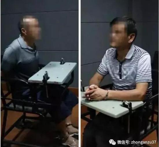 ▲犯罪嫌疑人汪维明(左)和刘永彪(右)。 警方供图
