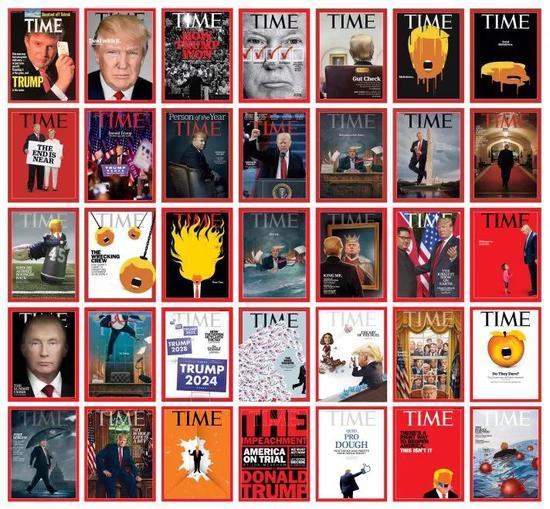 特朗普离任了,留下35个《时代》周刊封面