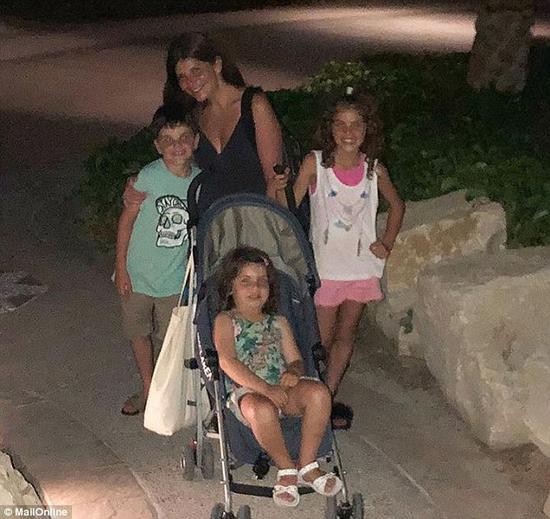 艾莉与3个孩子(图:《每日邮报》)