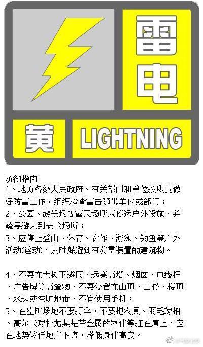 北京发布雷电黄色预警,局地短时大雨并伴6级大风图片