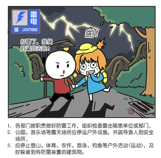 北京市2020年09月28日22时15分发布雷电蓝色预警信号图片
