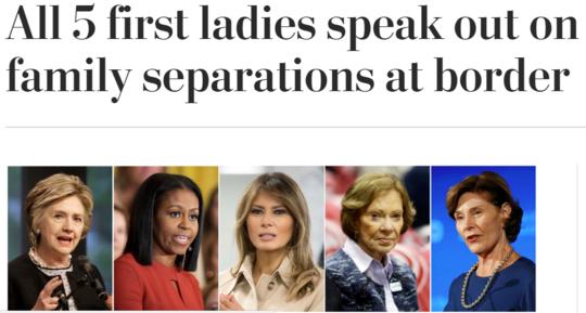 5位第一夫人公开指责特朗普最新移民政策