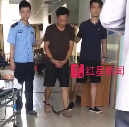 ▲犯罪嫌疑人被捕 受访者供图