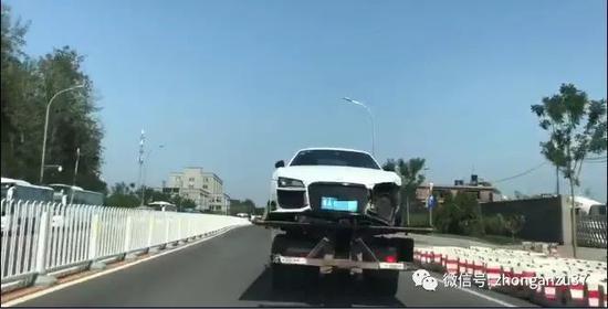 ▲肇事车辆被警方发现,嫌疑人自首。视频截图