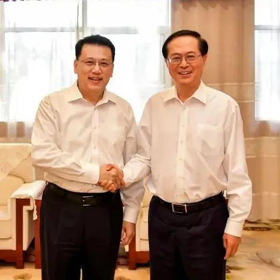 △袁家军(左)和浙江省委原书记车俊(右)