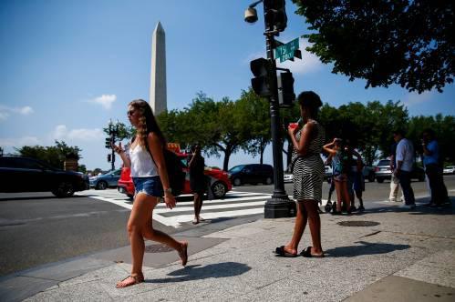 圖爲美國華盛頓街頭。新華社/路透
