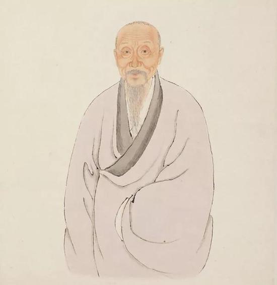 王鉴像 取自故宫博物院藏清人绘《王鉴像》页
