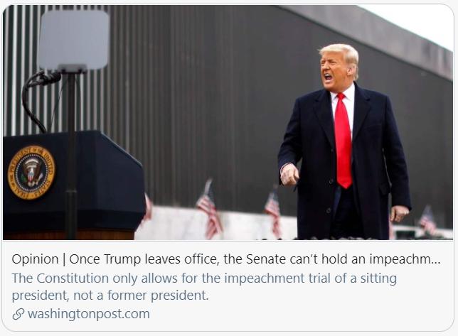 弹劾在前、诉讼在后,特朗普会坐牢吗?