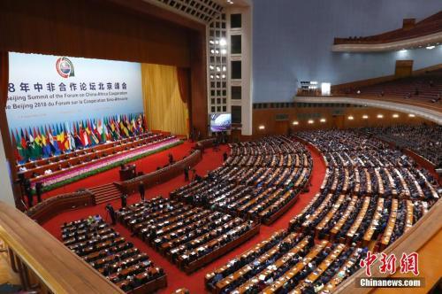 9月3日,中非合作论坛北京峰会在北京人民大会堂开幕。中新社记者 富田 摄
