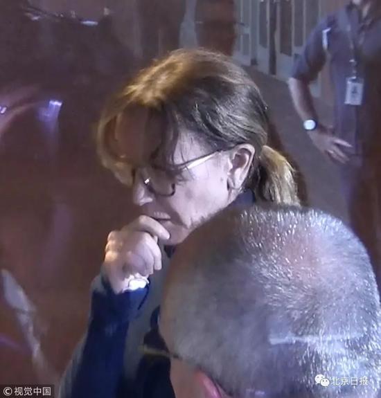 當地時間3月12日,菲麗西提·霍夫曼現身法庭接受審訊。