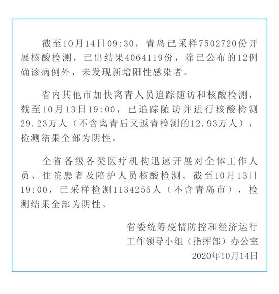 山东省加快青岛疫情相关人员和各级各类医疗机构全体人员核酸检测图片