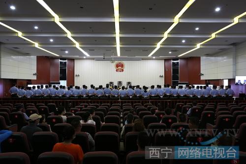 二审庭审现场。(图:西宁广播电视台)