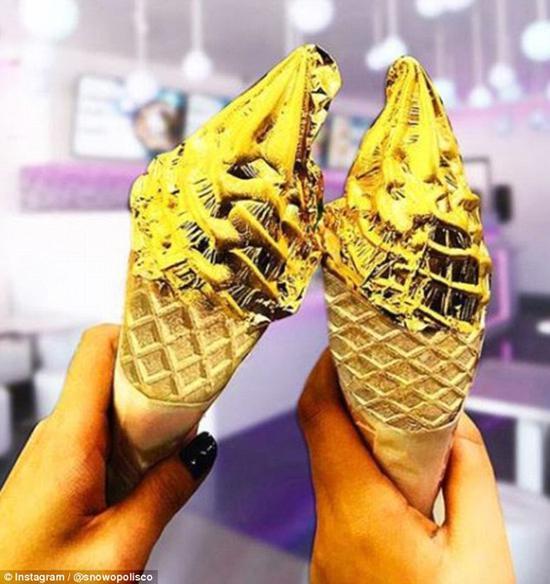 """美国店铺推出""""24k纯金冰淇淋"""" 售价94元(图)吉泽尺明步48式"""