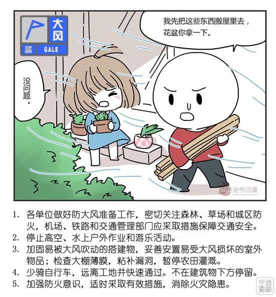 北京市2月16日16时30分继续发布大风蓝色预警信号图片