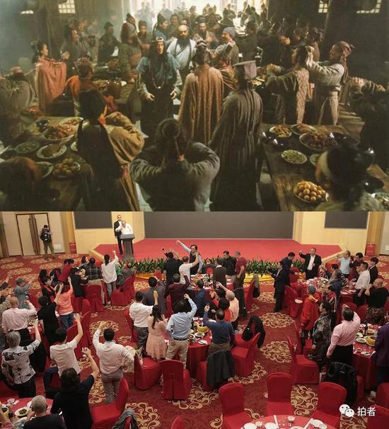 上图:98版《水浒传》剧中场景。