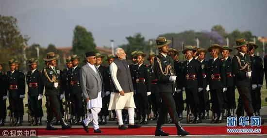 ▲5月11日,印度总理莫迪抵达贾纳克布尔市,展开对尼泊尔为期2天的正式访问。