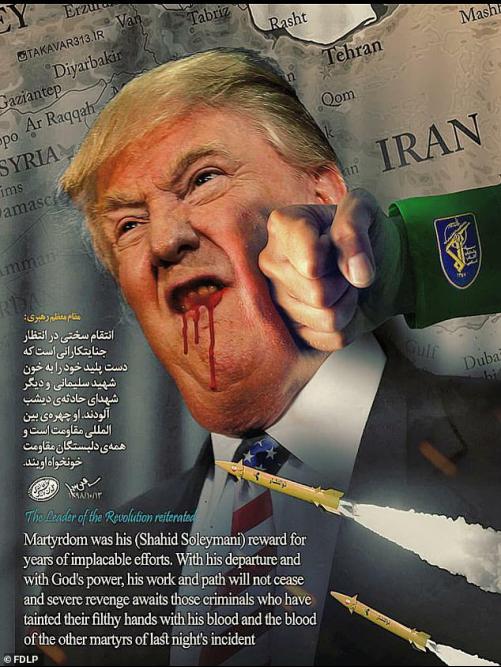 """美网站遭攻击:""""伊朗革命卫队拳打特朗普""""上首页"""