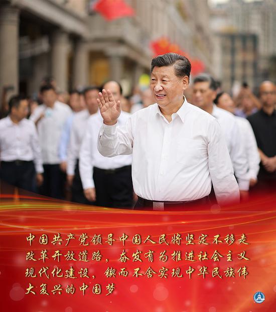 海报:习近平在广东考察新华社发
