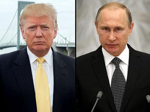 美国总统特朗普与俄罗斯总统普京