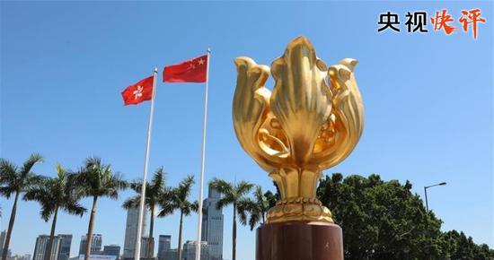 央视快评:五星红旗永远在香港高高飘扬|央视