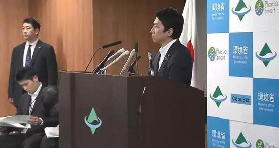 小泉進次郎11日深夜舉行記者會。/日媒ANN視頻截圖