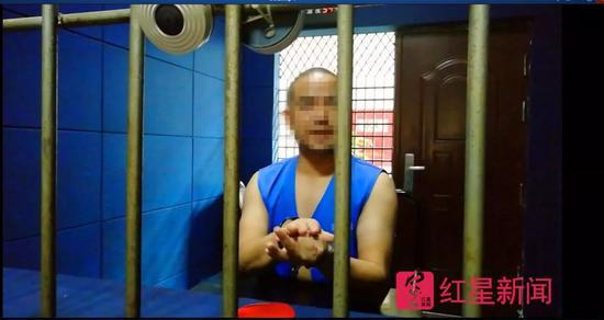 ▲被关进看守所的江某某 图片来源:红星新闻