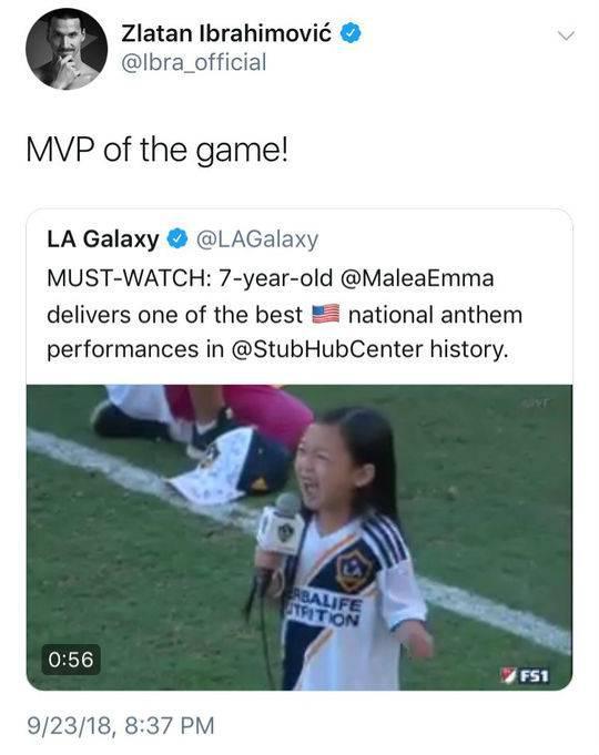 伊布称Malea才是MVP
