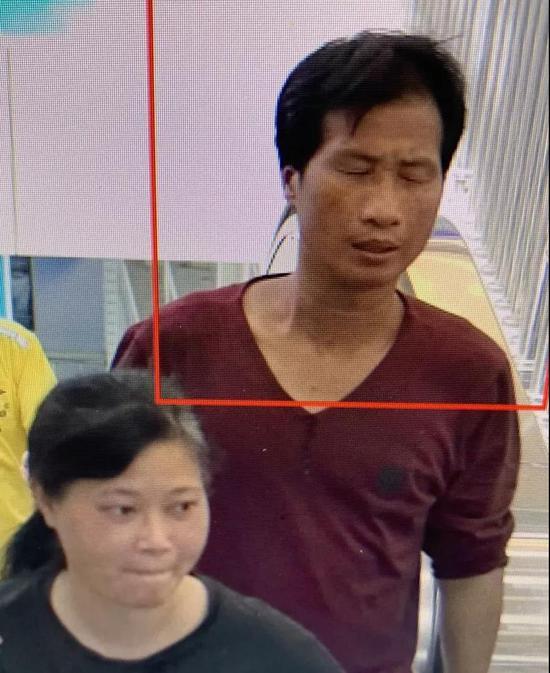 7月4日高鐵站監控梁、謝二人出現畫面