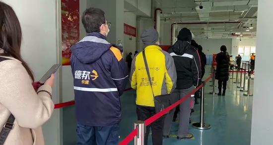 """新冠疫苗接种,北京丰台为5100多名快递外卖小哥设""""专场""""图片"""