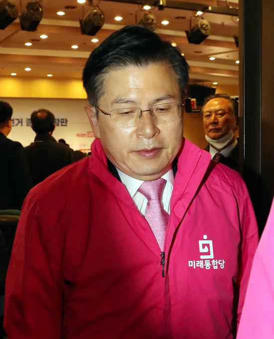 韩国最大在野党未来统合党党首黄教安(韩联社)