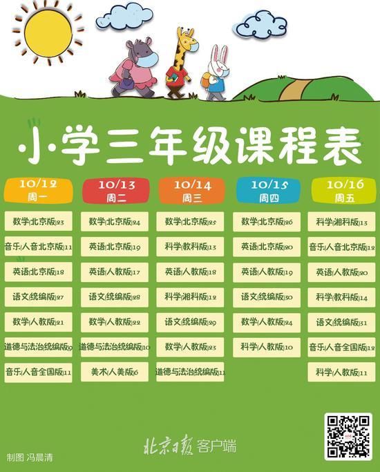"""北京中小学""""地面讲堂""""新一周课程表出炉(图3)"""