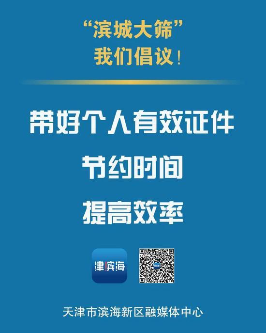 全员核酸检测,天津市滨海新区重要提示!图片