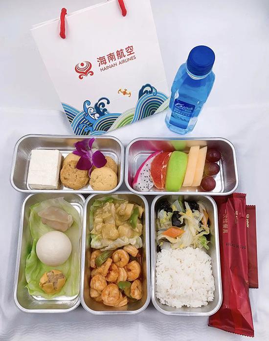 海南航空海口出港航班公事舱正餐