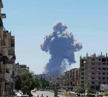 叙利亚中部城市一空军基地发生巨大爆炸