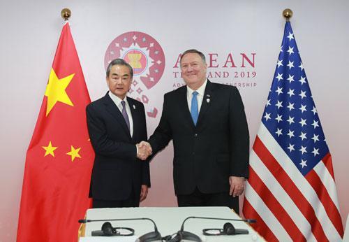 王毅会见蓬佩奥:中国的发展是无法阻挡的|王毅