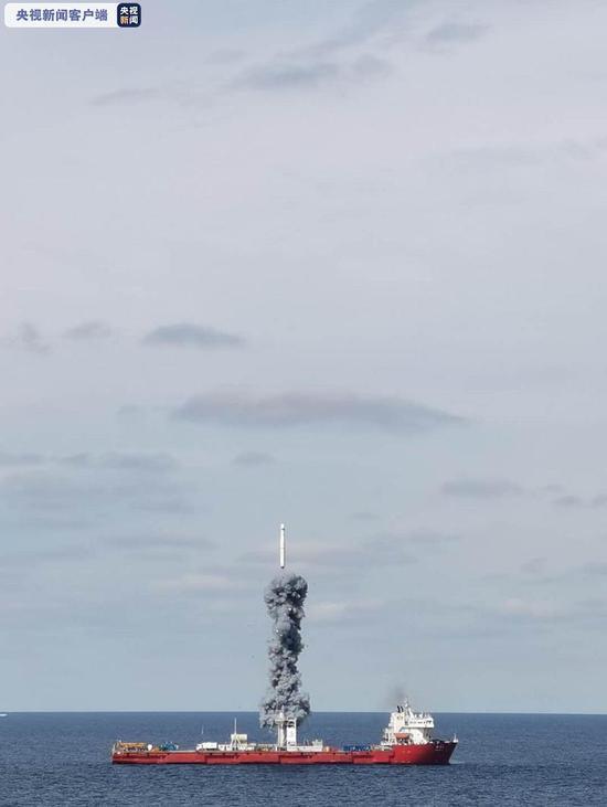 """""""一箭九星""""!长征十一号成功完成海上发射(图)图片"""